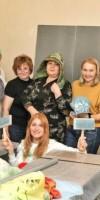 Фотоотчет о МК. Хлопковые фактуры на примере башлыка или шапочки Ирины Бобковой>