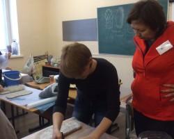 Фотоотчет по мастер классу валяние тапочек с высокой пяткой Алеси Исмагиловой.