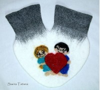 Варежки ручной работы Love is.... Мастер Сасина Татьяна.
