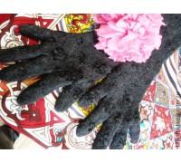 Перчатки валяные из шерсти длинные