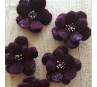 Валяные броши «Винные ягоды»