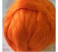 Вискоза для валяния, вес 10 гр. Россия. Цвет - Оранжевый